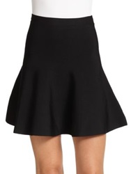 Bcbgmaxazria Ingrid Ponte Knit Fit And Flare Skirt Gardenia Bare Pink Black