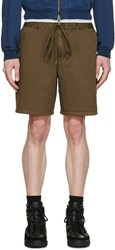 Robert Geller Khaki Twill Dock Shorts