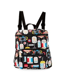 Le Sport Sac Striped Backpack Boarding Pass
