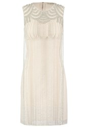 Lace And Beads Fredrica Cocktail Dress Party Dress Cream Nude