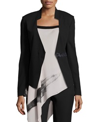 Halston Long Sleeve Fitted Blazer Black