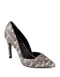 Trina Turk Hollywood Snakeskin Pumps Black White