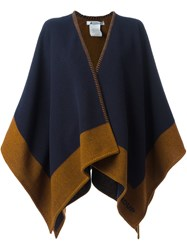 Dondup Two Tone Wrap Shawl Blue