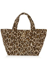Charlotte Olympia Ami Leopard Print Canvas Tote Animal Print