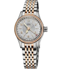 Oris 4361 07 8 14 32 Big Crown Original Rose Gold Plated Stainless Steel Watch Silver