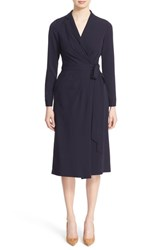 Nordstrom Caroline Issa Women's Signature And Satin Georgette Wrap Dress