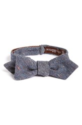 Alexander Olch Men's 'The Crisp' Cotton Melange Bow Tie Blue Navy