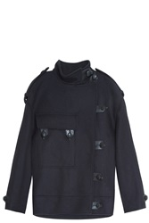 Isabel Marant Ketzia Flannel Coat Navy