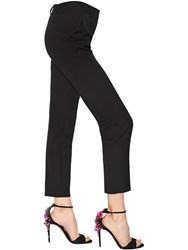 Dolce And Gabbana Cropped Stretch Wool Natte Pants