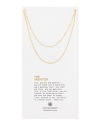 The Mentor 14K Ball Chain Necklace Gold Dogeared