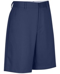 Greg Norman For Tasso Elba Men's Big And Tall Microfiber Shorts Mountain Blue