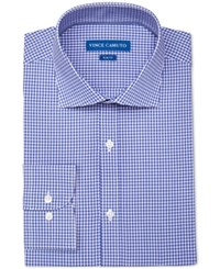Vince Camuto Men's Slim Fit Stretch Blue Gingham Dress Shirt
