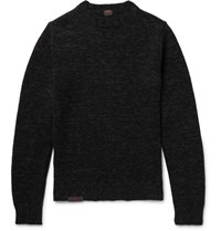 Massimo Piombo Mp Meange Virgin Woo Sweater Back Black