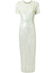 Jonathan Saunders 'Sidney' Sequined Dress White
