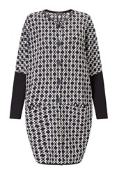 James Lakeland Knitted Jacquard Coat Black