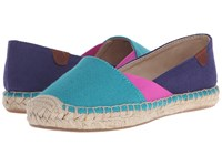 Sperry Katama Cape Color Block Teal Bright Pink Navy Women's Slip On Shoes Blue