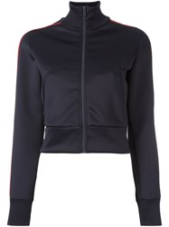 Red Valentino Scuba Cropped Jacket Blue