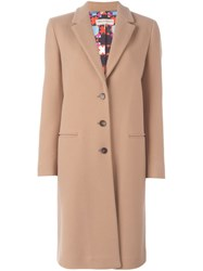 Emilio Pucci Classic Single Breasted Coat Pink And Purple