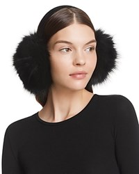 Surell Fox Fur Earmuffs Black