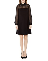 Ted Baker Cacey Jeweled Collar Dress Black