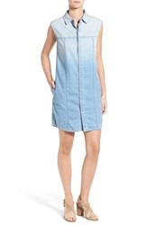 Women's Hudson Jeans 'Jules' Ombre Chambray Sleeveless Shirtdress