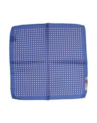 Manuel Ritz Square Scarves Blue