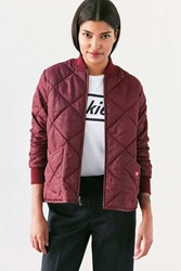 Dickies Quilted Bomber Jacket Maroon