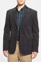 Wallin And Bros Trim Fit Corduroy Blazer Gray