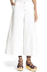 See By Chloe Women's Crop Wide Leg Trousers