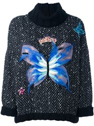 Dolce And Gabbana Butterfly Jumper Black