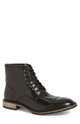 Andrew Marc New York 'Norwood' Cap Toe Boot Men Black Cymbal Leather