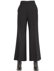 Calvin Klein Collection Flared And Cropped Stretch Wool Pants
