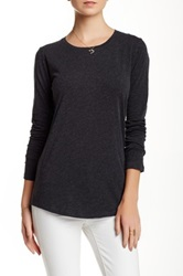 Majestic Basic Long Sleeve Tee Gray