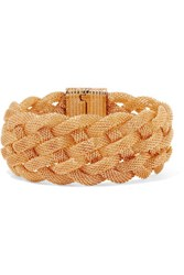 Kenneth Jay Lane Braided Gold Tone Bracelet