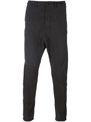 Poeme Bohemien Twisted Drop Crotch Trousers Grey