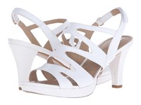 Naturalizer Pressley White Leather High Heels
