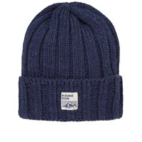 Mt. Rainier Design Knit Beanie Blue