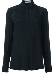 Givenchy Pleated Bib Shirt Black