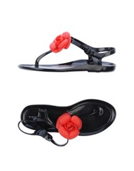 Tosca Blu Thong Sandals Red