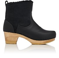 No. 6 Women's Shearling And Leather Clog Boots Black