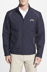 Cutter Buck 'San Diego Chargers Beacon' Weathertec Wind And Water Resistant Jacket Big And Tall Navy Blue