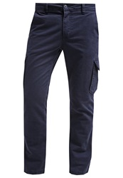 Pier One Cargo Trousers Navy Dark Blue