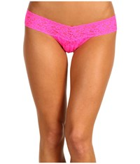 Hanky Panky Signature Lace Low Rise Thong Passionate Pink Women's Underwear