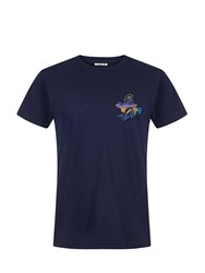 House Of Holland Embroidered Pocket T Shirt Blue