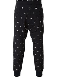 Neil Barrett Geometric Print Track Pants Blue