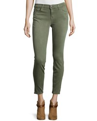Current Elliott The Stiletto Cropped Skinny Jeans Army Green
