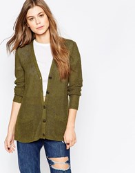Denim And Supply Ralph Lauren Denim And Supply By Ralph Lauren Button Front Cardigan Olive Green