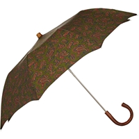 Barneys New York Paisley Folding Umbrella