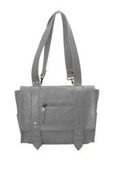 Vere Verto Repeto Leather Backpack Gray
