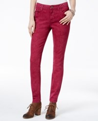 Tommy Hilfiger Quiet Shade Stonewashed Jeggings Red Plum